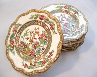 Coalport Indian Tree vintage bone china bread and butter plate