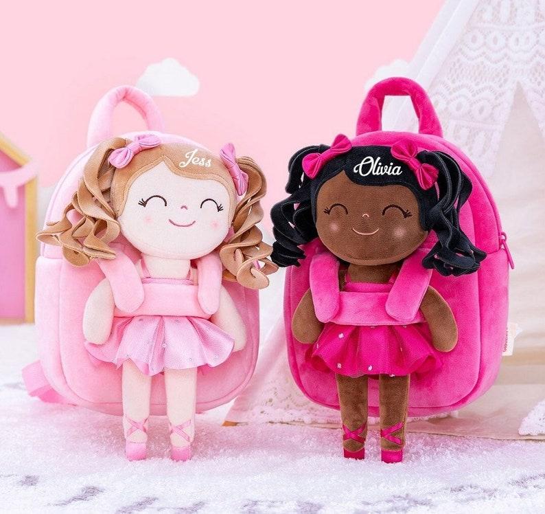 Sac à dos personnalisé Ballerina Doll - Créatrice ETSY : KiddioShop