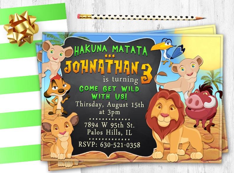 Carte Dafrique Anniversaire Invitation Anniversaire Roi Lion Invite Invitation Fête Roi Lion