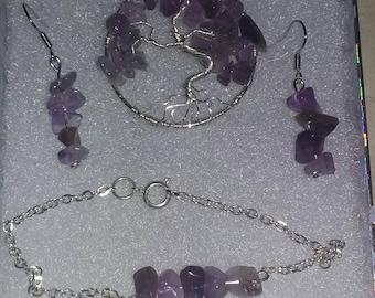 Amethyst jewelery set