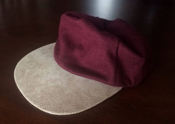 Vintage Beaver Canoe Burgundy and Tan Baseball Hat
