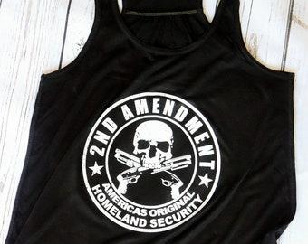 308d601b5e4de 2nd Amendment Tank Top- Gun Shirts for Women- Gun Tank Top-Women Who Hunt  Tank- Girls Can Shoot Too