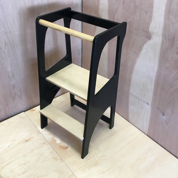 Learning Tower Custom Built Montessori Learning Tower Kitchen Helper Learning Tower For Toddlers Toddler Tower Kitchen Helper Stool