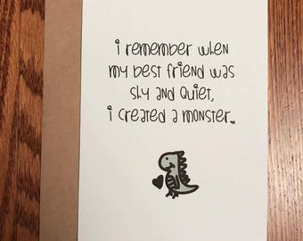 Monster Best Friend Greeting Card
