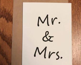 Mr & Mrs Wedding Card