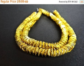 54% Off Sale Brushed gold plated wavy spacer beads/6mm/7.5 inches