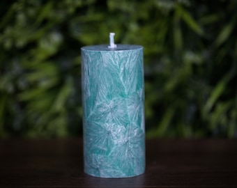 Aquamarine Candle Rustic Large Unity Candles Organic candles Weddings Gift Eco Candles Natural Candle Ceremony Candle Wide Pillar Candle