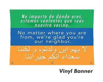 Vinyl Banner - Welcome Your Neighbors
