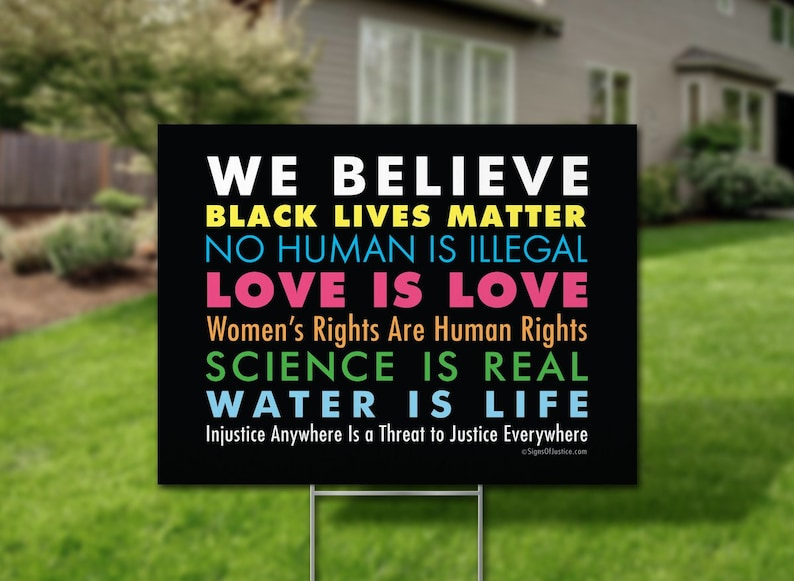 14f5975a2 We Believe Yard Sign   Etsy