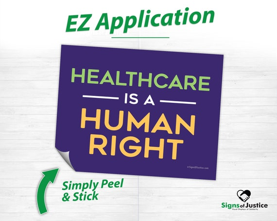Healthcare is a human right Decal Vinyl Bumper Sticker 5