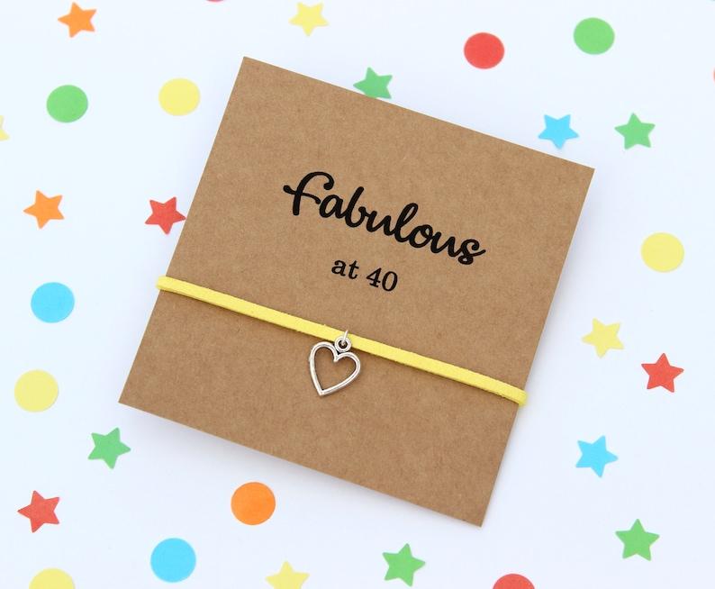40th Birthday Gift For Her Bracelet Card Friendship Ideas Wish Bracelets
