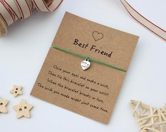 Friend Wish Bracelet, Best Friend Wish Bracelet, Friendship Wish Bracelet, Gift for a Friend, Friend Jewellery, Best Friend Gift