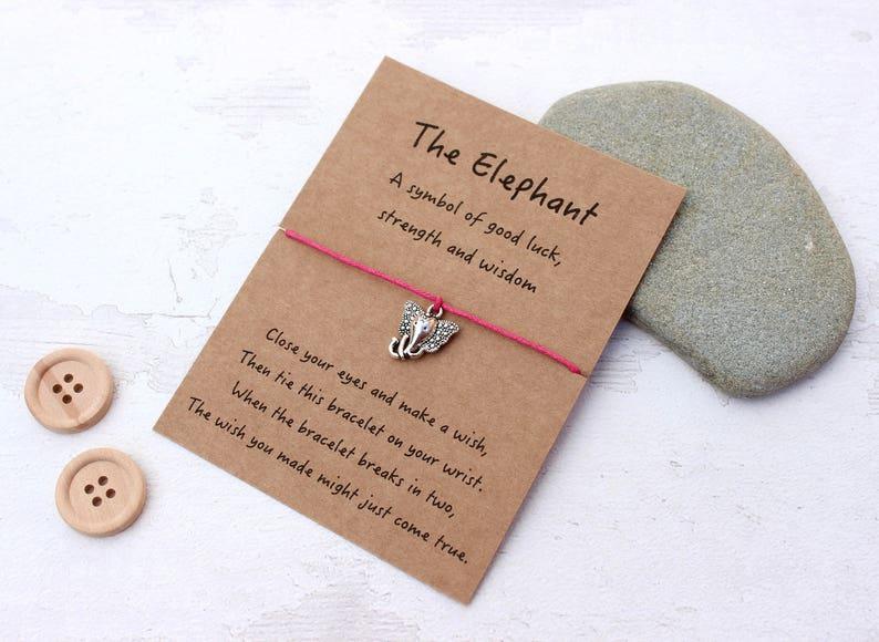 Elephant Wish Bracelet, Good Luck Charm, Good Luck Elephant, Good Luck  Bracelet, Lucky Elephant Gift, Elephant Gift Idea