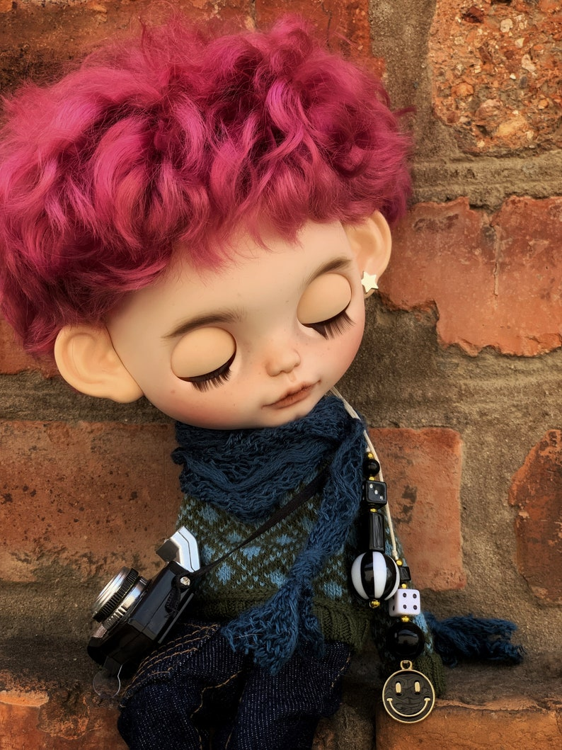 Blythe Doll  Custom Blythe Boy  Dress Decorative Toy Pretty Art Collectible Character Display Companion Blythe Doll Home Decor Birthday Gift