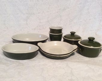 Hall, Green, Individual Baking/Serving Restaurant Ware Collection