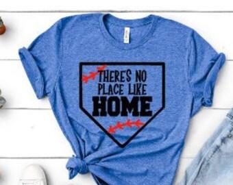 eda83eab1c249 There s no place like home baseball shirt