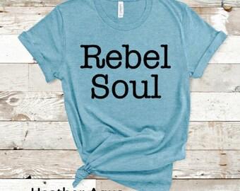 Lucky Soul Born A Rebel Soul Men T-Shirt