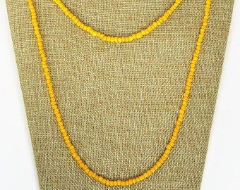 """Small Beaded Double Wrap Necklace, 60"""" Long Double Wrap Necklace, Long Beaded Necklace, Beaded Choker Necklace, Long Boho Wrap Necklace"""