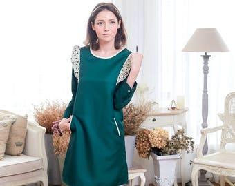 Woman Dress Magic Green Bean Dress (woman)