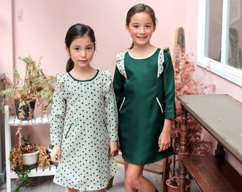 Girl Dress -Magic Green Bean Dress (infant/toddler/girl)