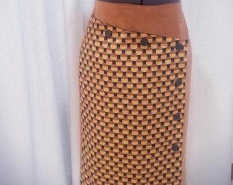 Honeycomb Satin Lace Up Skirt