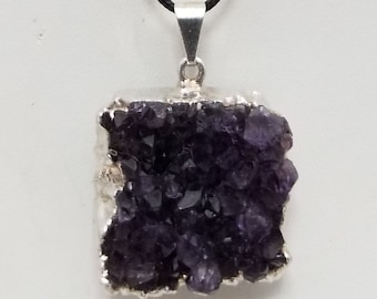 Amethyst Geode Pendant Necklace, Free Shipping (18593), Penpq, Amethyst Geode Necklace, Pendantlady,pq
