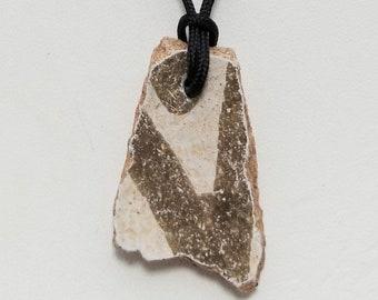 Anasazi Pottery Shard Pendant Necklace, Free Shipping (18531), Anasazi Pottery Necklace, Pendantlady,Pq