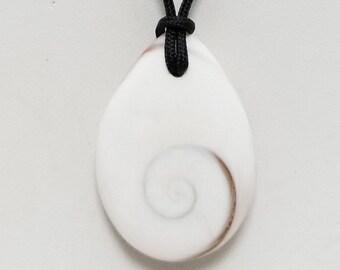 Operculum Shell Pendant Necklace, Free Shipping (18594), Operculum Shell Necklace, Pendantlady,Pq