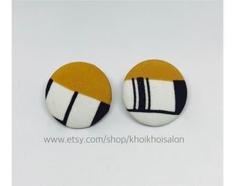 Fabric Print Earrings