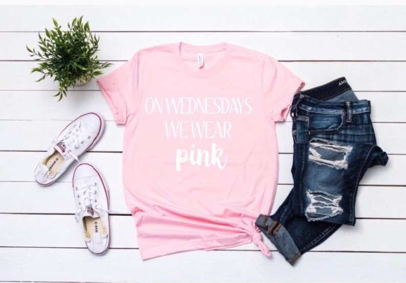 d6f0832f On Wednesdays We Wear Pink Mean girls Pink Shirt Funny | Etsy
