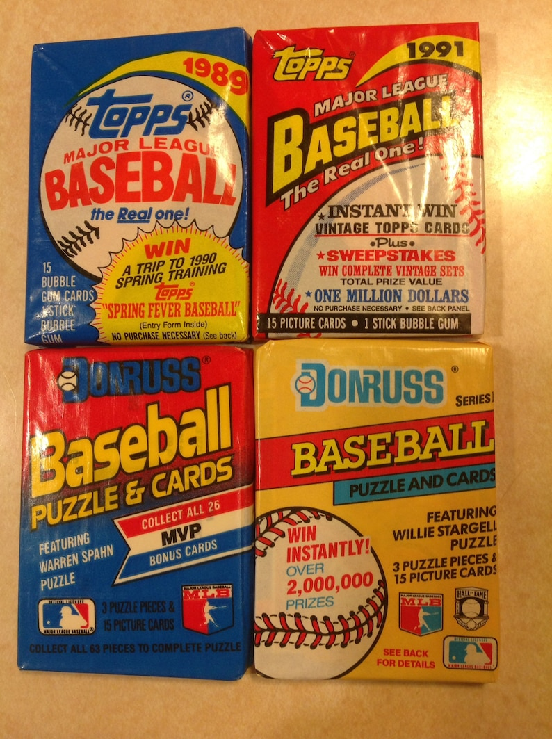 Unopened Topps And Donruss Baseball Card Pack