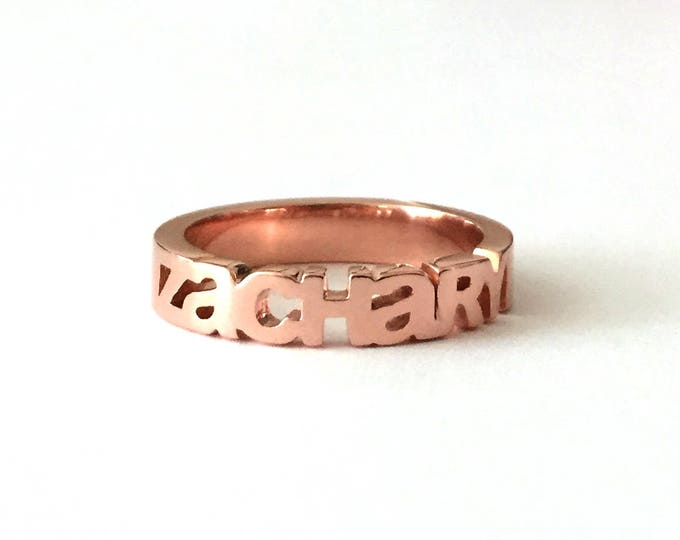 Personalized Word or Name Ring | Made-to-Order Just For You | My Mantra | Modern Mommy Ring | Inspirational Words | Express Yourself!