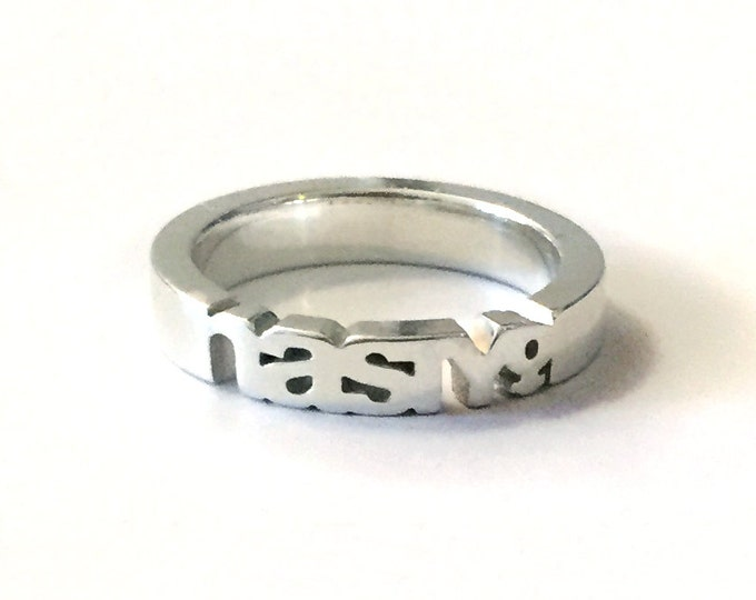 Nasty Woman Ring in Sterling Silver | For Empowered Women & Strong Girls | Feminist AF | Women's Gifts | The Future is Female | Feminism