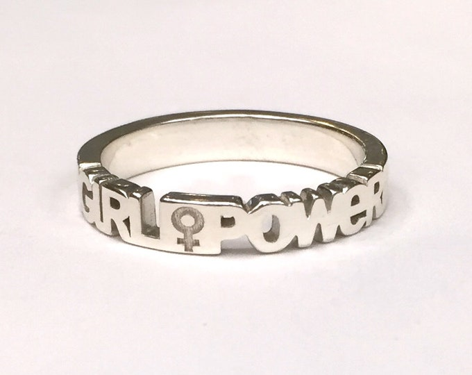Girl Power Ring | Girl Power Jewelry | Empowered Girls | The Future is Female | Feminism Gifts | Motivational Ring |  Women's Movement
