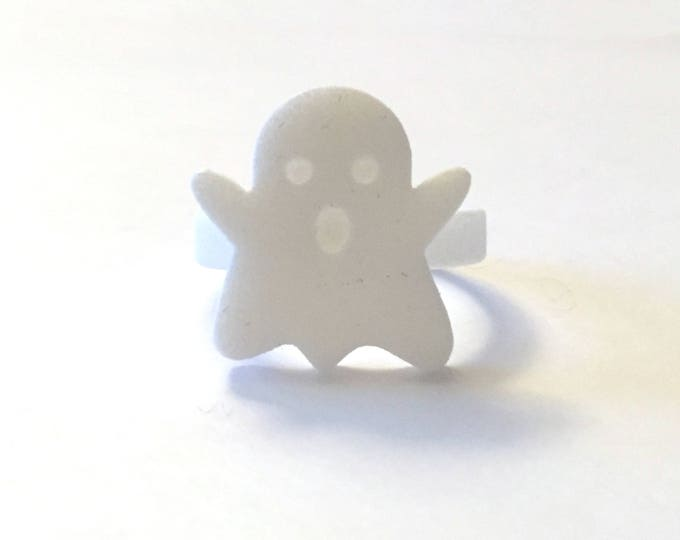 Ghost Ring | Spooky Halloween Fun | Trick or Treat | Goody Bag Ideas | Costume Party Prize | 3D Printed Ghost Ring | Boo | Costume Accessory