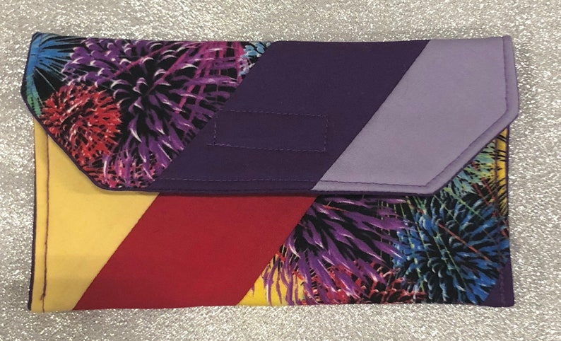 Quilted Eye Glasses Case in Firework Print