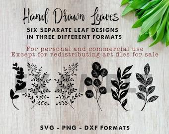 Leaf SVG Files   Leaf art files   Cut Files   Files for Cricut   Silhouette   Clipart   Vector