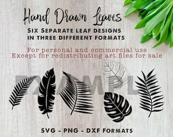 Leaf art Files   Leaf svg files   Cut Files   Files for Cricut   Silhouette   Clipart   Vector