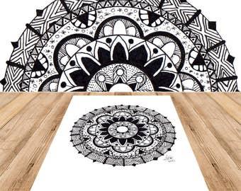 Mandala Bloom - Adult Coloring Page