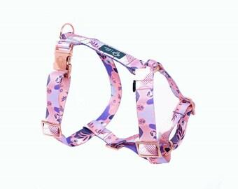 Dog  HARNESS Candy Jungle / guard / rose gold hardware / copper / scandinavian / pastel/ pink / purple
