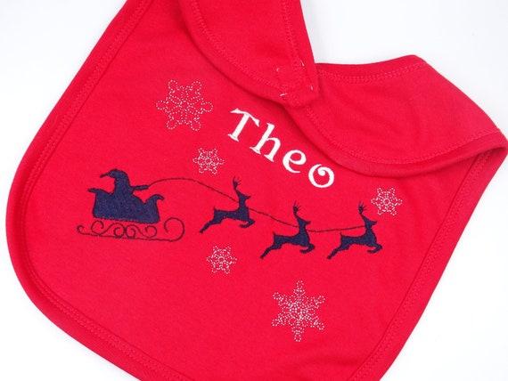 Personalised Embroidered UNISEX BOYS GIRLS CHRISTMAS PYJAMAS REINDEER RUDOLF