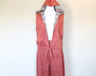 1970s Hooded Vest and Gaucho Set
