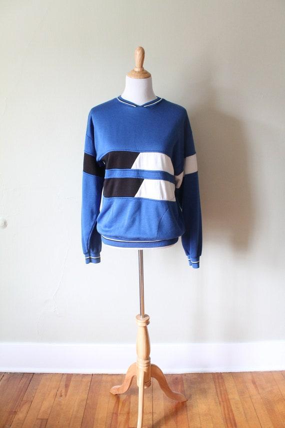 1980s Vintage Colorblock Sweatshirt