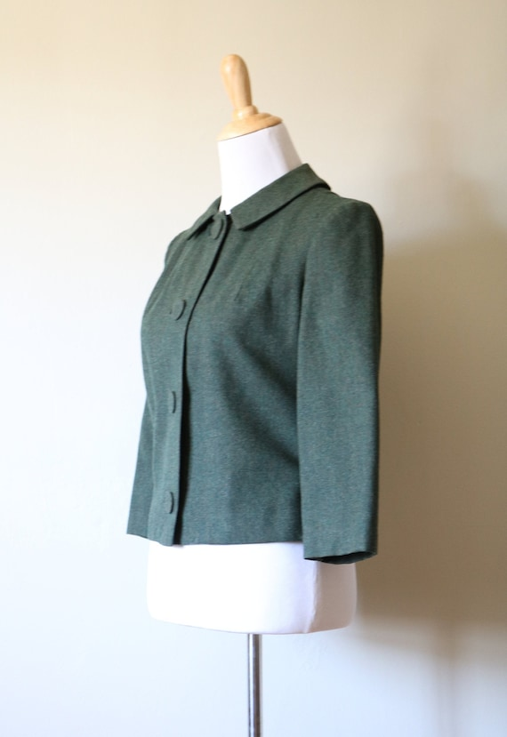 1990s Vintage Green Pendleton Wool Jacket - image 4