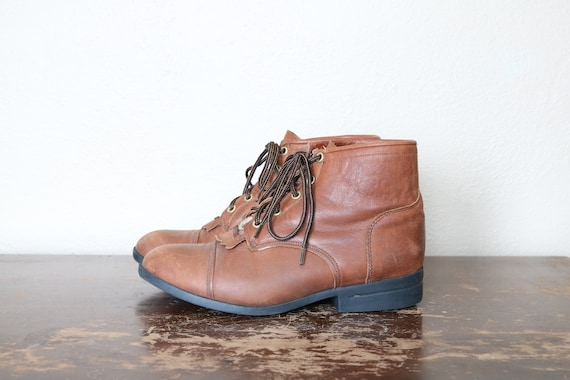 1990s Vintage Western Ankle Boots