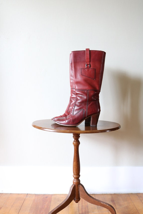 1970s Vintage Leather Boots