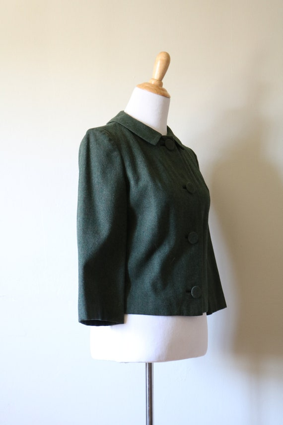 1990s Vintage Green Pendleton Wool Jacket - image 3