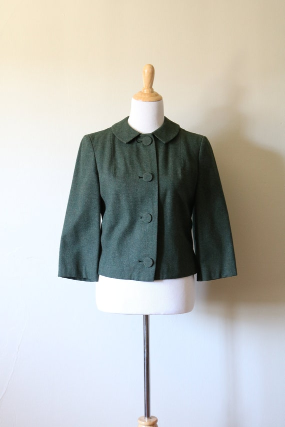 1990s Vintage Green Pendleton Wool Jacket - image 1