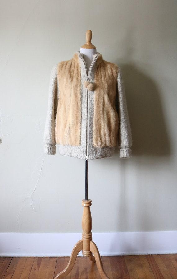 1970s Vintage Fur Sweater Coat