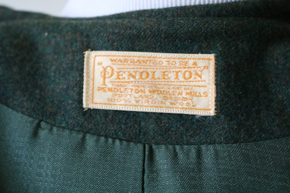 1990s Vintage Green Pendleton Wool Jacket - image 6